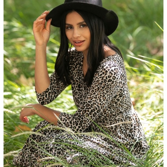 Pinkblush Dresses Leopard Print Nursing Maxi Dress Poshmark